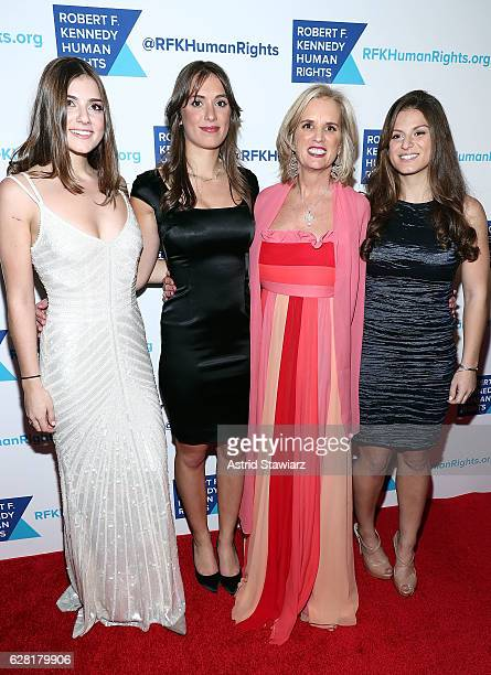 Michaela Kennedy Cuomo Mariah Kennedy Cuomo Kerry Kennedy and Kick Kennedy attends the 2016 Robert F Kennedy Human Rights' Ripple Of Hope Awards at...