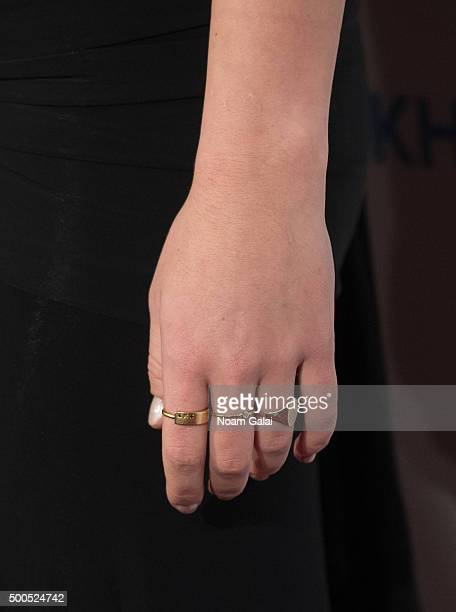 Michaela Kennedy Cuomo ring detail attends the Robert F Kennedy human rights 2015 Ripple of Hope awards at New York Hilton Midtown on December 8 2015...