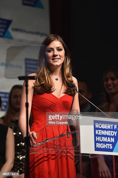 Michaela Kennedy Cuomo speaks onstage at the RFK Ripple Of Hope Gala at Hilton Hotel Midtown on December 16 2014 in New York City