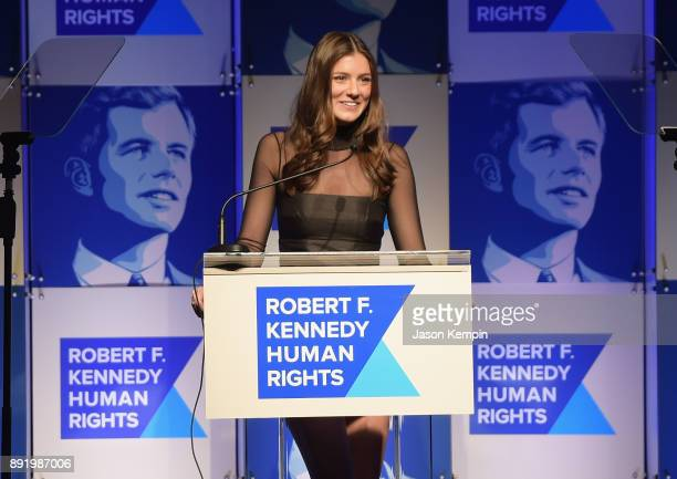 Michaela Kennedy Cuomo speaks onstage during Robert F Kennedy Human Rights Hosts Annual Ripple Of Hope Awards Dinner on December 13 2017 in New York...