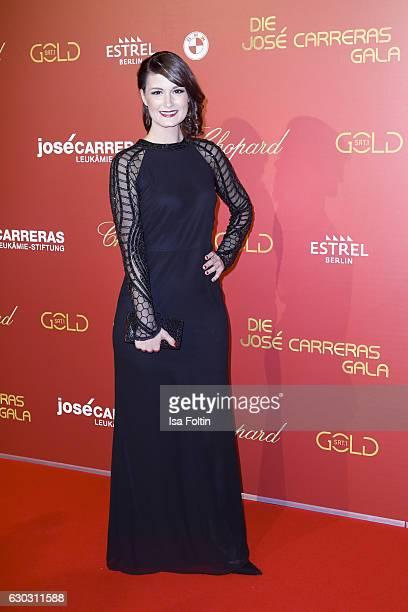Michaela Kiermair program leader of Sat1 Gold attends the 22th Annual Jose Carreras Gala on December 14 2016 in Berlin Germany