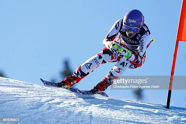 Michaela Kirchgasser of Austria competes during the FIS Alpine World Ski Championships Women's Super Combined on February 09 2015 in Beaver Creek...