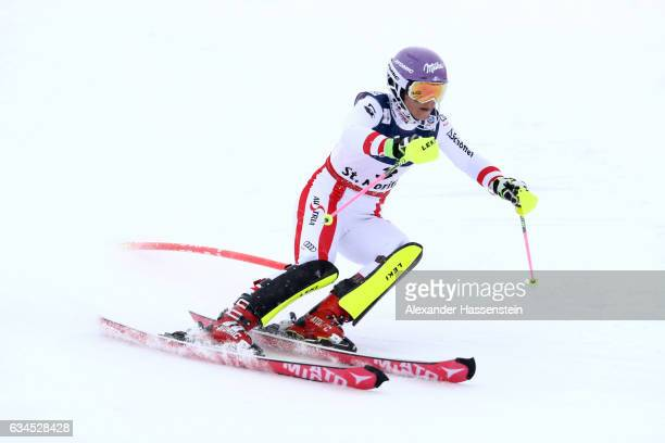 Michaela Kirchgasser of Austria competes during the Women's Combined Slalom during the FIS Alpine World Ski Championships on February 10 2017 in St...