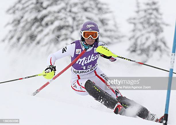 Michaela Kirchgasser of Austria during the Audi FIS Alpine Ski World Cup Women's Slalom on December 18 2011 in Courchevel France
