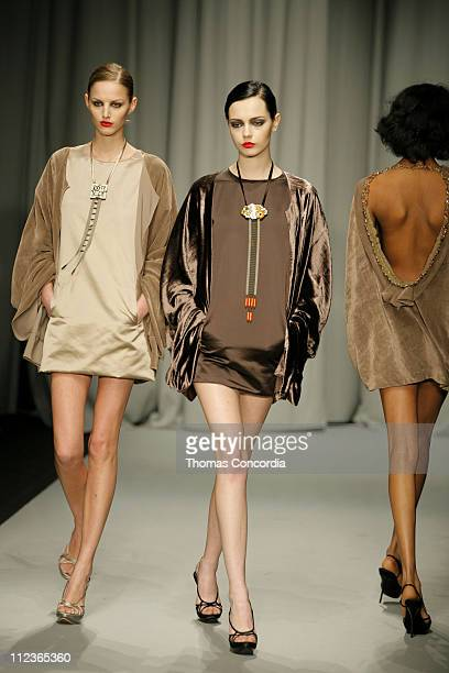 Michaela Kocianova and Mina Cvetkovic wearing Maurizio Pecoraro Fall/Winter 2007