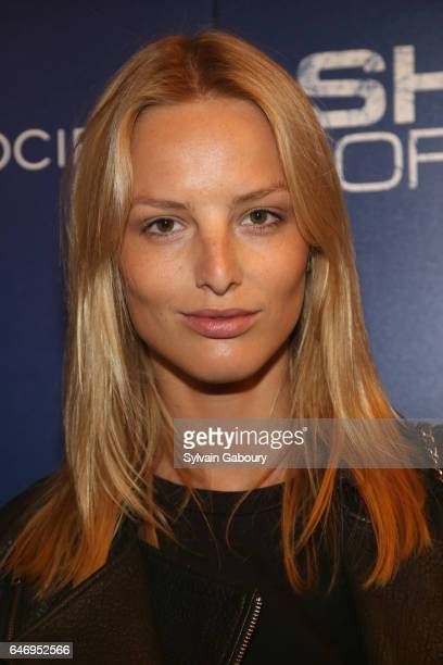 Michaela Kocianova attends NBC and The Cinema Society Host the Season 2 Premiere of Shades of Blue on March 1 2017 in New York City