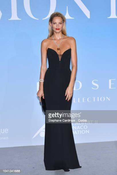 Michaela Kocianova attends the MonteCarlo Gala for the Global Ocean 2018 on September 26 2018 in MonteCarlo Monaco