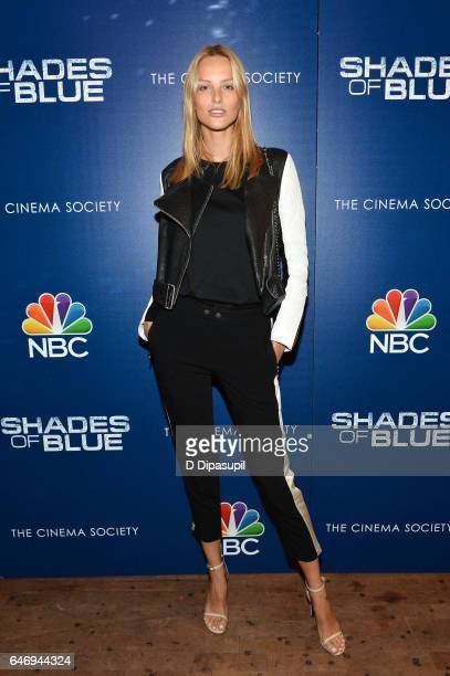 Michaela Kocianova attends the season two premiere of Shades of Blue hosted by NBC and The Cinema Society at The Roxy on March 1 2017 in New York City