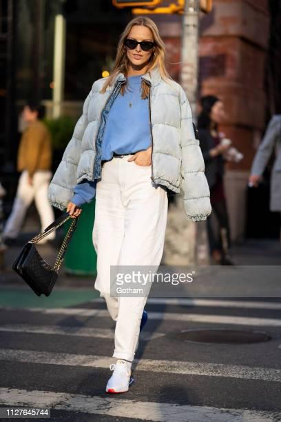 Michaela Kocianova is seen in SoHo on February 05 2019 in New York City