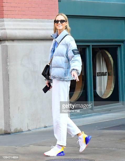 Michaela Kocianova is seen in SoHo on February 5 2019 in New York City