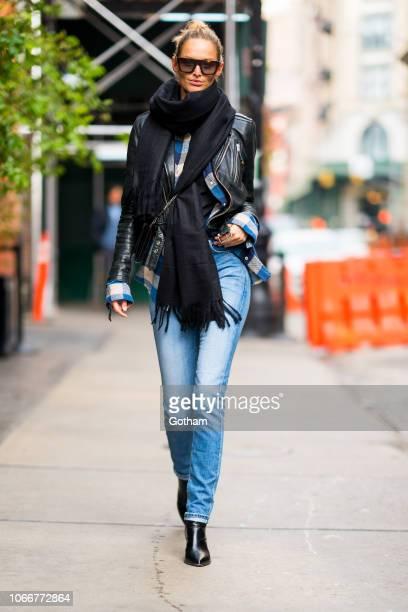 Michaela Kocianova is seen in SoHo on November 12 2018 in New York City