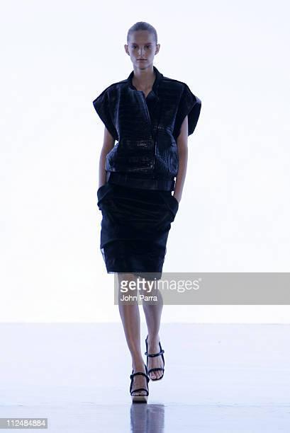 Michaela Kocianova wearing Calvin Klein Spring 2007