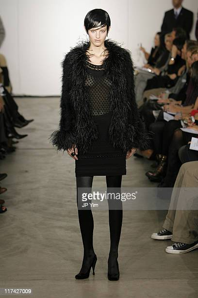 Michaela Kocianova wearing Malandrino Fall 2007 during MercedesBenz Fashion Week Fall 2007 Malandrino Runway at Chelsea Art Museum in New York City...