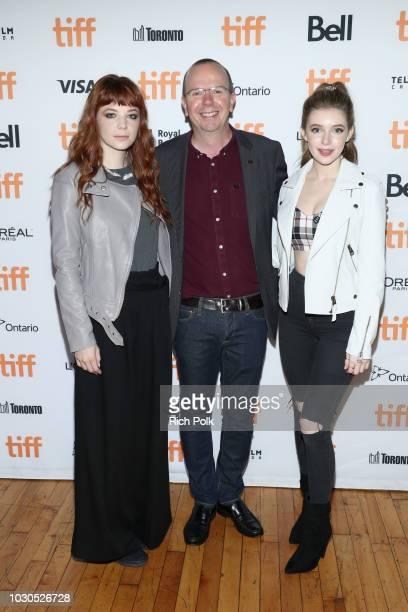 Michaela Kurimsky IMDb Founder and CEO Col Needham and Eleanor WorthingtonCox attend The 2018 Rising Stars Power Break Lunch At The 2018 Toronto...