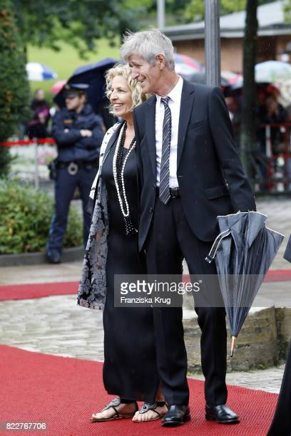 Michaela May and Bernd Schadewald attend the Bayreuth Festival 2017 Opening on July 25 2017 in Bayreuth Germany