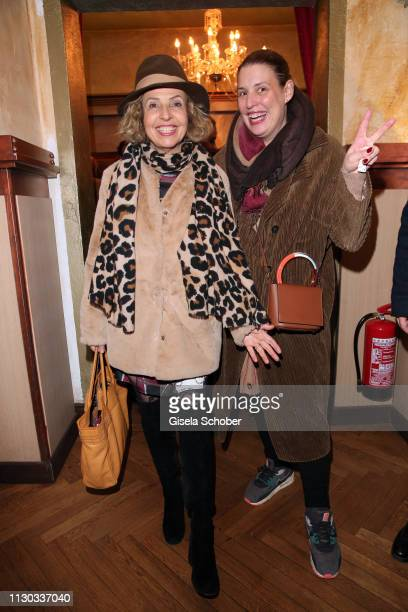 Michaela May and Elena Uhlig during the NdF after work press cocktail at Parkcafe on March 13, 2019 in Munich, Germany.