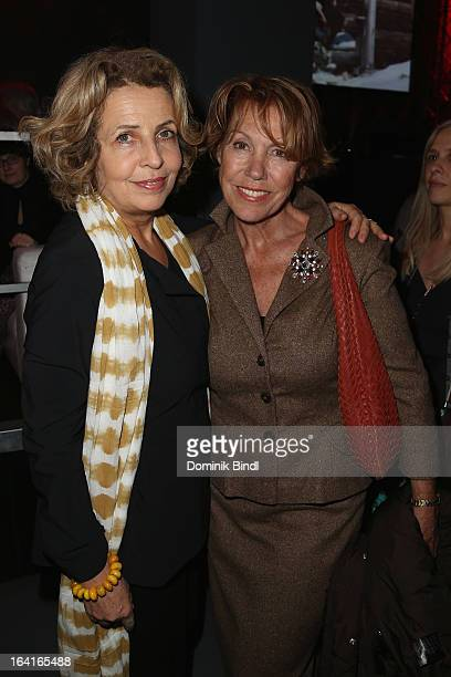 Michaela May and Gaby Dohm attend the Ndf Afterwork Party at 8 Seasons on March 20 2013 in Munich Germany