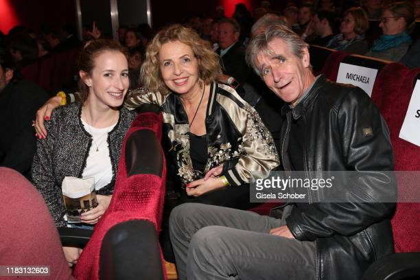 Michaela May and her daughter Lilian Schiffer and her husband Bernd Schadewald during the premiere of the film Schmucklos at Rio Filmpalast on...