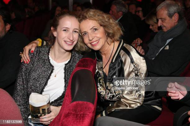 Michaela May and her daughter Lilian Schiffer during the premiere of the film Schmucklos at Rio Filmpalast on November 17 2019 in Munich Germany