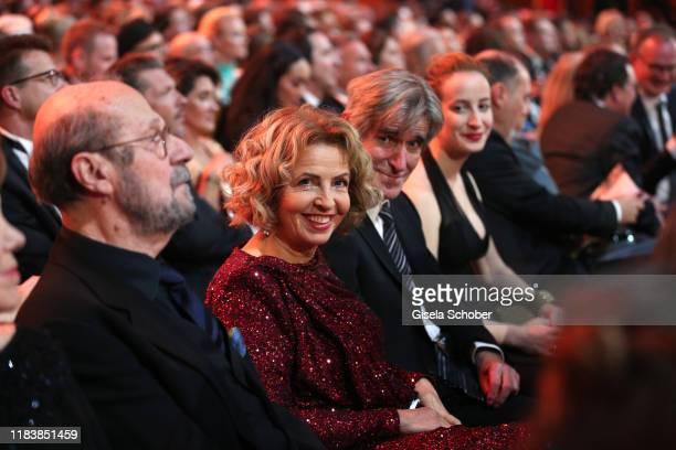 Michaela May and her husband Bernd Schadewald and daughter Lilian during the 71st Bambi Awards show at Festspielhaus BadenBaden on November 21 2019...
