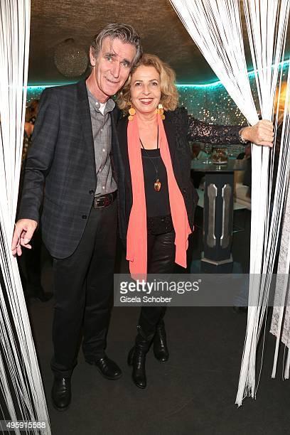 Michaela May and her husband Bernd Schadewald during the VIP premiere of Schubecks Teatro's program 'Herzstuecke' at Spiegelzelt on November 5, 2015...