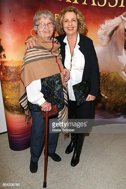 Michaela May and her mother Anneliese Mittermayr during the 'APASSIONATA Im Bann des Spiegels' VIP reception at Olympiahalle on January 9 2016 in...