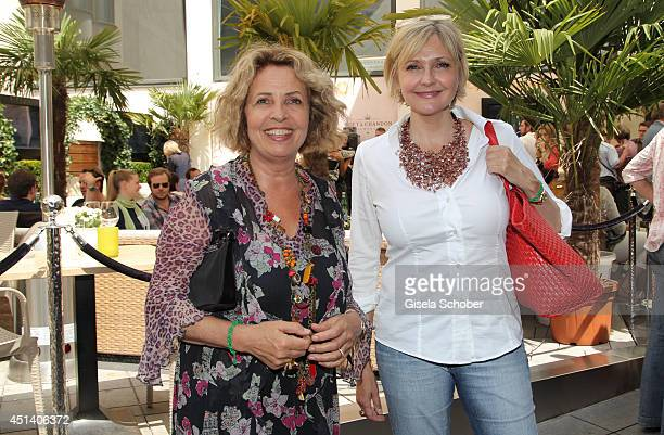 Michaela May and Katharina Schubert attend the 'Sommerfest der Agenturen' at H'ugo's on June 28 2014 in Munich Germany