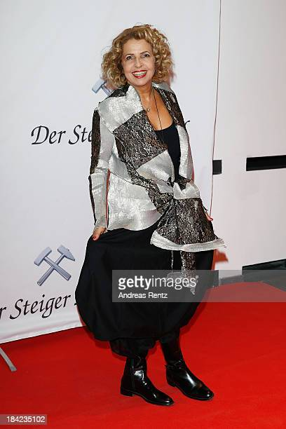 Michaela May arrives for the Steiger Award 2013 at Dortmunder U on October 12 2013 in Dortmund Germany
