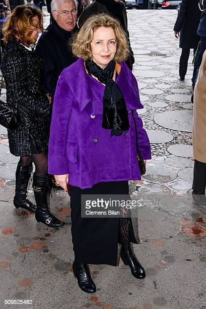 Michaela May attends the Wolfgang Rademann memorial service on February 11 2016 in Berlin Germany