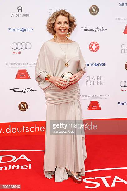Michaela May during the German Film Ball 2016 at Hotel Bayerischer Hof on January 16 2016 in Munich Germany