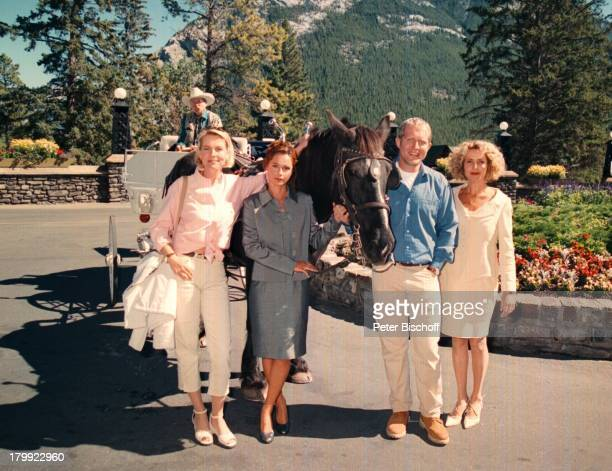 "Michaela May, Harald Krassnitzer, Christina ""Tina"";Plate, Anja Schüte, ""Kanadische Träume"";ZDF, Dreh Banff/Kanada, Banff Springs;Hotel,"