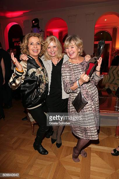 Michaela May Sabine Postel and Jutta Speidel during the Bunte and BMW Festival Night 2016 during the 66th Berlinale International Film Festival...