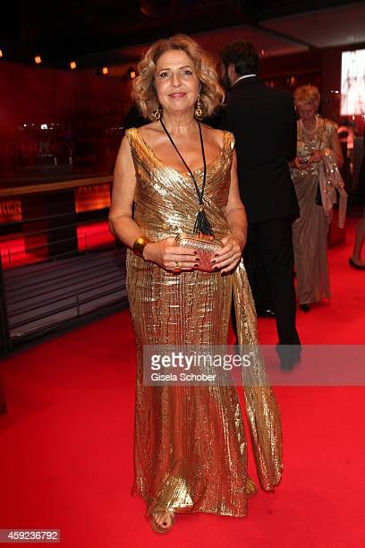 Michaela May wearing a dress by AIGNER arrives at the Bambi Awards 2014 on November 13 2014 in Berlin Germany
