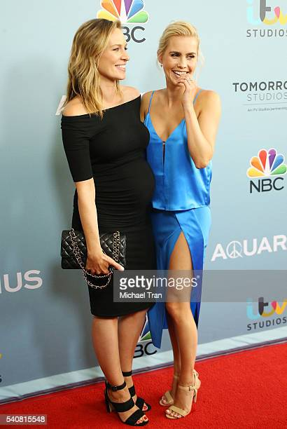 Michaela McManus and Claire Holt arrive at the Los Angeles premiere of NBC's 'Aquarius' season 2 held at The Paley Center for Media on June 16 2016...