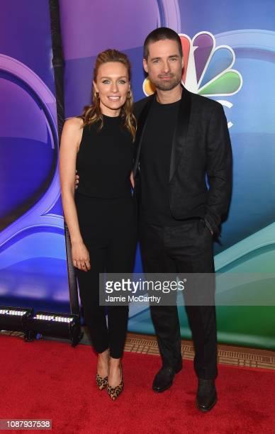 Michaela McManus and Warren Christie attend NBC's New York Mid Season Press Junket at Four Seasons Hotel New York on January 24 2019 in New York City