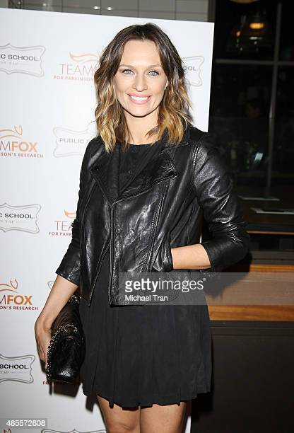 Michaela McManus arrives at the Raising the Bar to End Parkinson's event held at Public School 818 on March 7 2015 in Sherman Oaks California