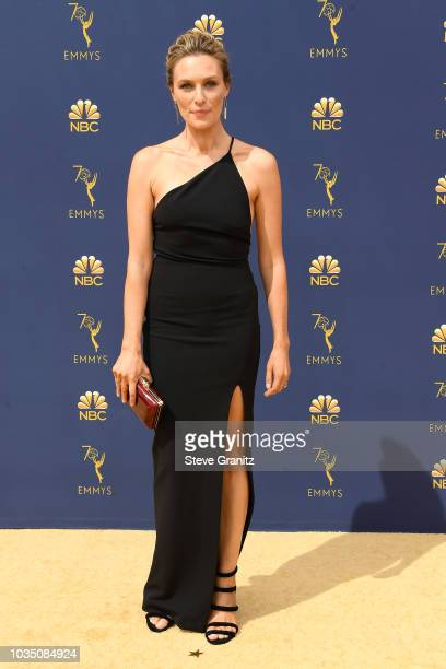 Michaela McManus attends the 70th Emmy Awards at Microsoft Theater on September 17, 2018 in Los Angeles, California.
