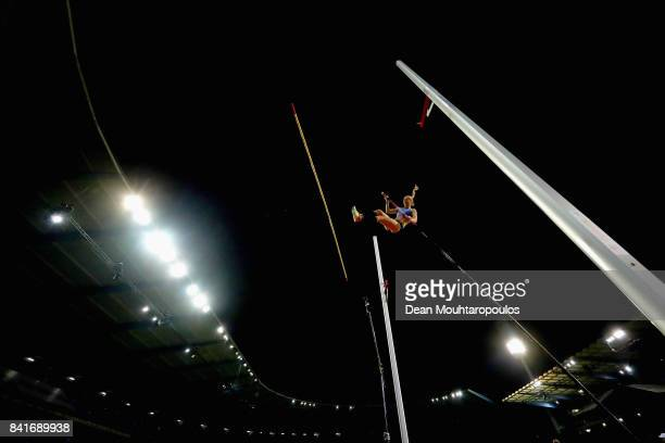 Michaela Meijer of Sweden competes in the Womens Pole Vault Final during the AG Memorial Van Damme Brussels as part of the IAAF Diamond League 2017...