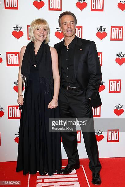 Michaela Merten and Hannes Jaenicke attend the 'Ein Herz Fuer Kinder Gala 2012' on December 15 2012 in Berlin Germany