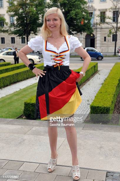 Michaela Merten attend the Women's World Cup Night as part of the Digital Life Design women conference at Bavarian National Museum on June 30 2011 in...