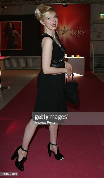 Michaela Merten attends the after show party to the 'Duftstars' Award 2008 at the 'The Station' on April 26, 2008 in Berlin, Germany.