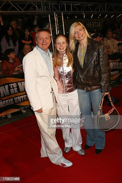 Michaela Merten with husband Pierre Franckh And Daughter In The Julia Wild Hogs Hogs Premiere In Munich