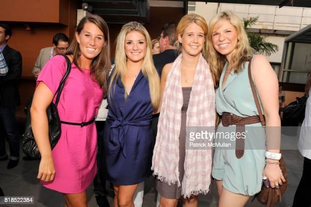 Michaela Morin Bridgette Borman Carly Turecamo and Marissa McCariagher attend Via Spiga 25th Anniversary Event at Empire Hotel Rooftop on August 2...