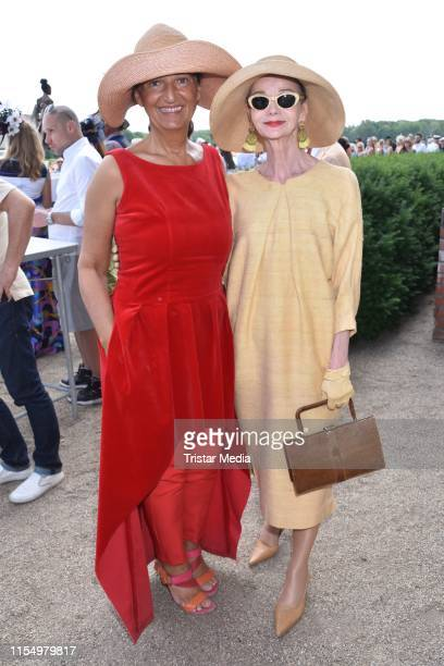 Michaela Mummvon Oldenburg and Britt Kanja during the Fashion Race Day on June 9 2019 in DahlwitzHoppegarten Germany