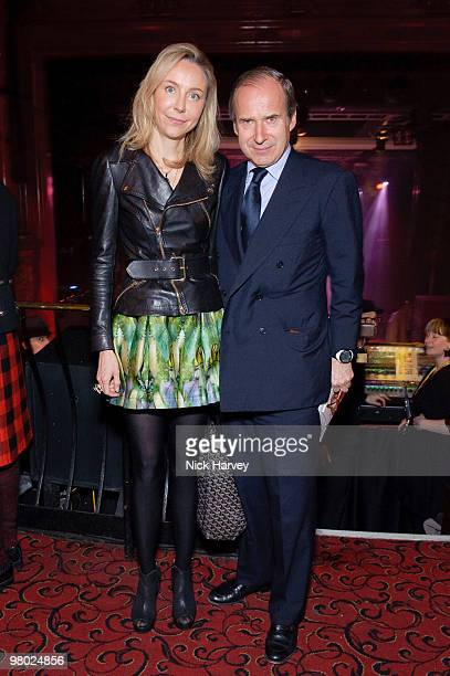 Michaela Neumeister and Simon de Pury attend The ICA Fundraising Gala at KOKO on March 24, 2010 in London, England.
