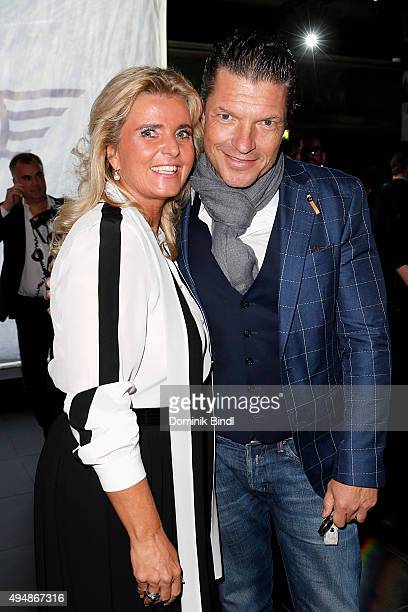 Michaela Portner and Hardy Krueger jun attend the premiere of the new MINI Clubman on October 29 2015 in Munich Germany