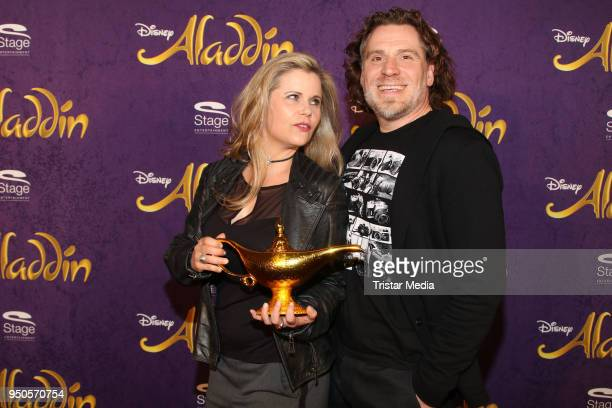 Michaela Schaffrath and Carlos Anthonyo attend the Aladdin And Friends Charity Event on April 23 2018 in Hamburg Germany