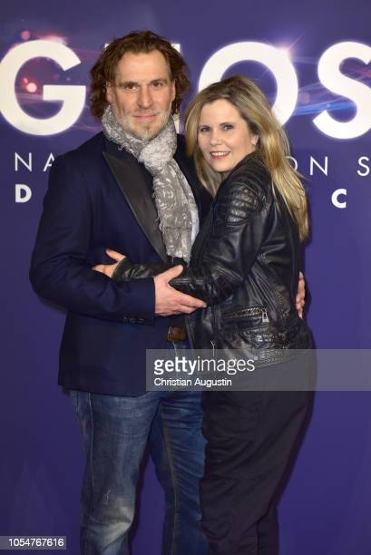 Michaela Schaffrath and Carlos Anthonyo attend the premiere of the musical 'Ghost The Musical' at Stage Operettenhaus on October 28 2018 in Hamburg...