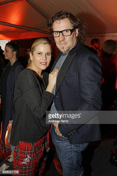Michaela Schaffrath and Carlos Antonio attend the Thomas Rath show during Platform Fashion January 2017 at Areal Boehler on January 29 2017 in...