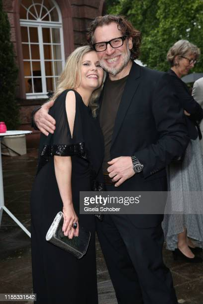 Michaela Schaffrath and her boyfriend Carlos Anthonyo during the opening of the Nibelungen Theatre Festival at St Peter's Cathedral on July 12 2019...